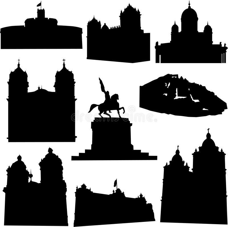 Architecture bien connue du Pérou illustration de vecteur