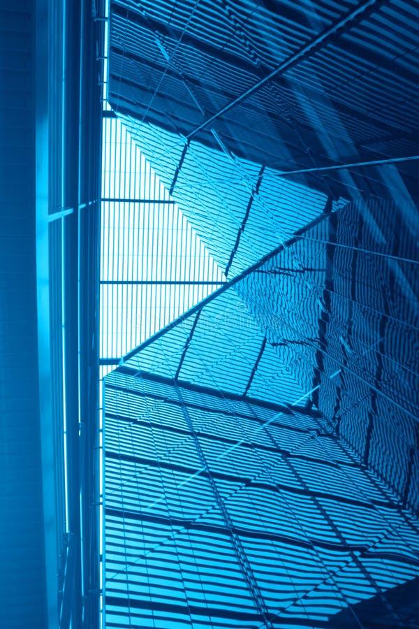 Architecture bleue abstraite photo stock