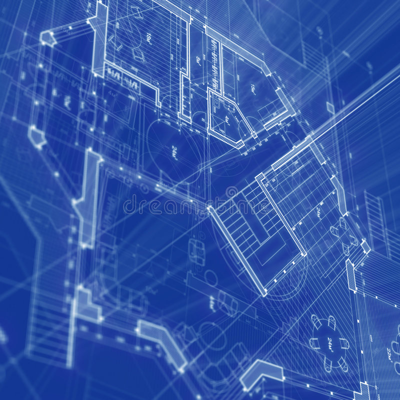 Architecture blueprint. Blueprint - architecture house plan background stock illustration