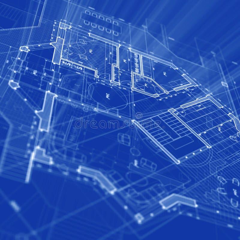 Architecture blueprint. Blueprint - architecture house plan background royalty free illustration