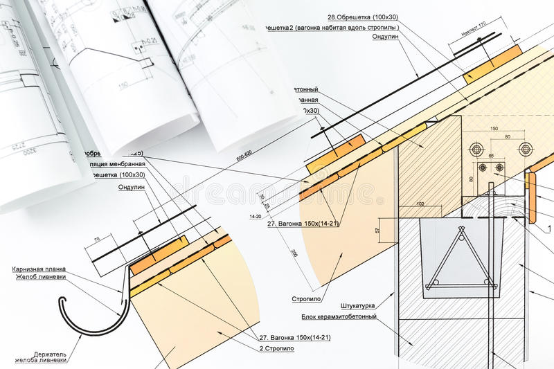 Architecture Blueprint Detail Stock Image - Image of dimensions ...