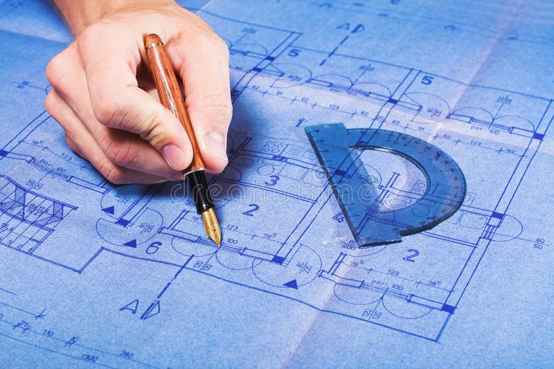 Architecture blueprint drawing stock image image of architecture architecture blueprint document draw engineering concept malvernweather Images