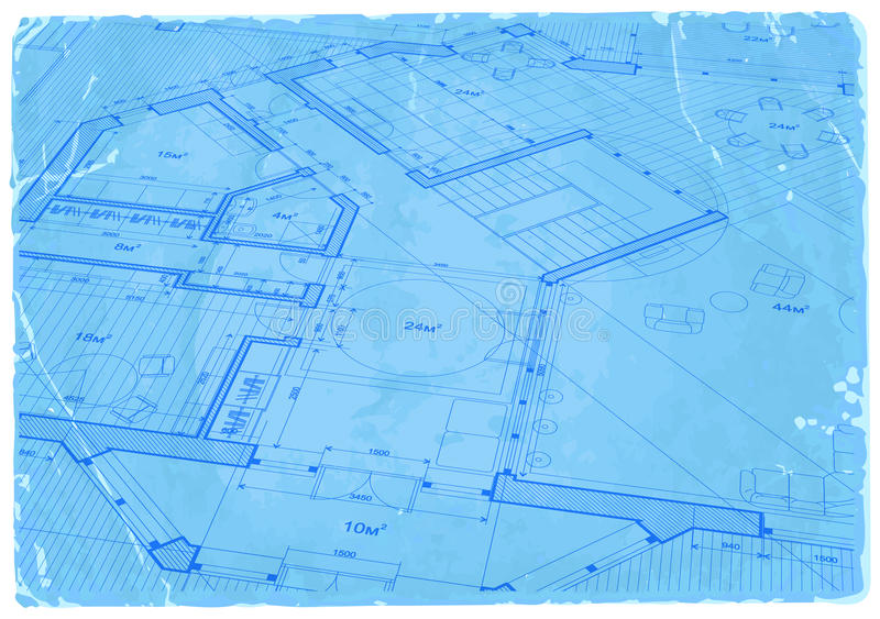 Architecture blueprint - house plan. / vector illustration / Eps10 royalty free illustration