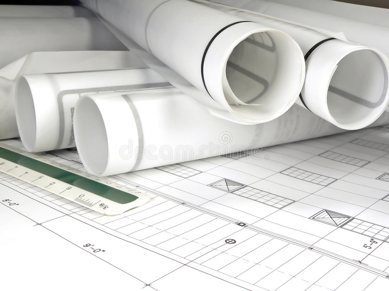 Download Architecture Blueprints stock image. Image of engineering - 1401389