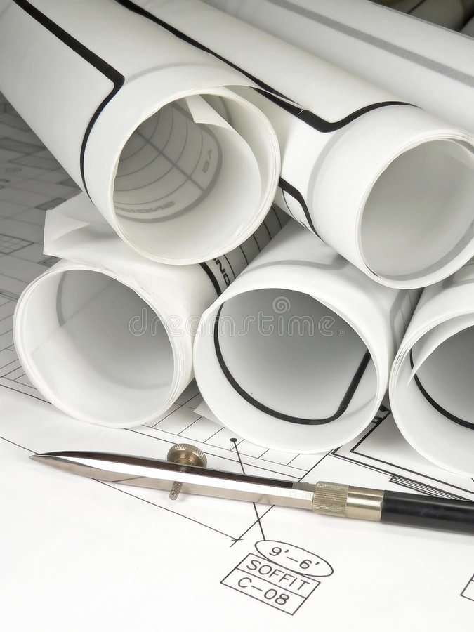 Download Architecture Blueprints Royalty Free Stock Photos - Image: 1401398
