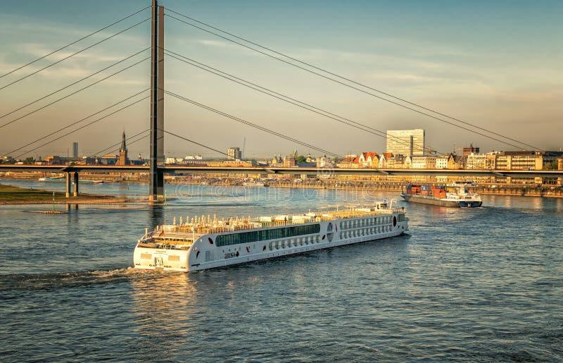 Architecture, Boats, Bridge royalty free stock image