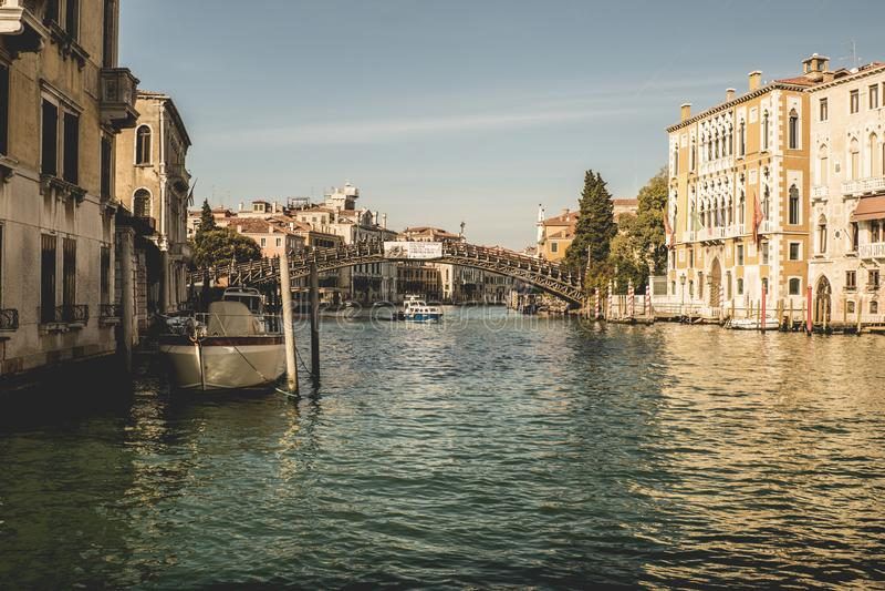 Architecture, Boats, Bridge stock image