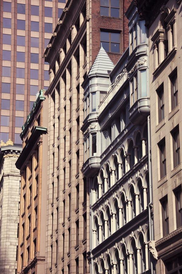 Architecture of Boston. Architecture of downtown of Boston, Massachusetts stock photos