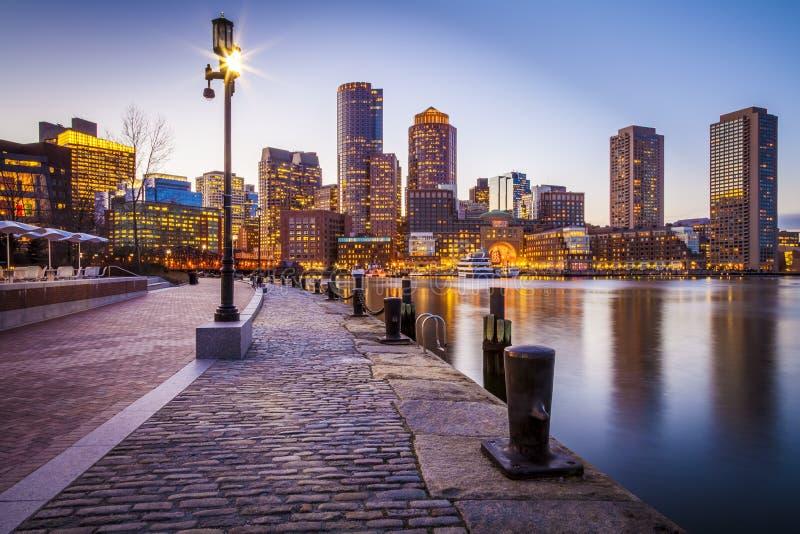 The Boston Harbor royalty free stock photo