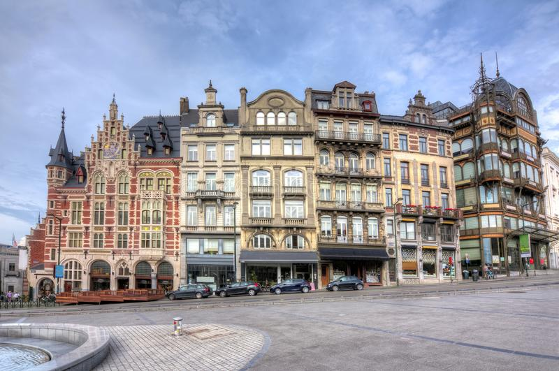 Architecture of Brussels, Belgium royalty free stock photography