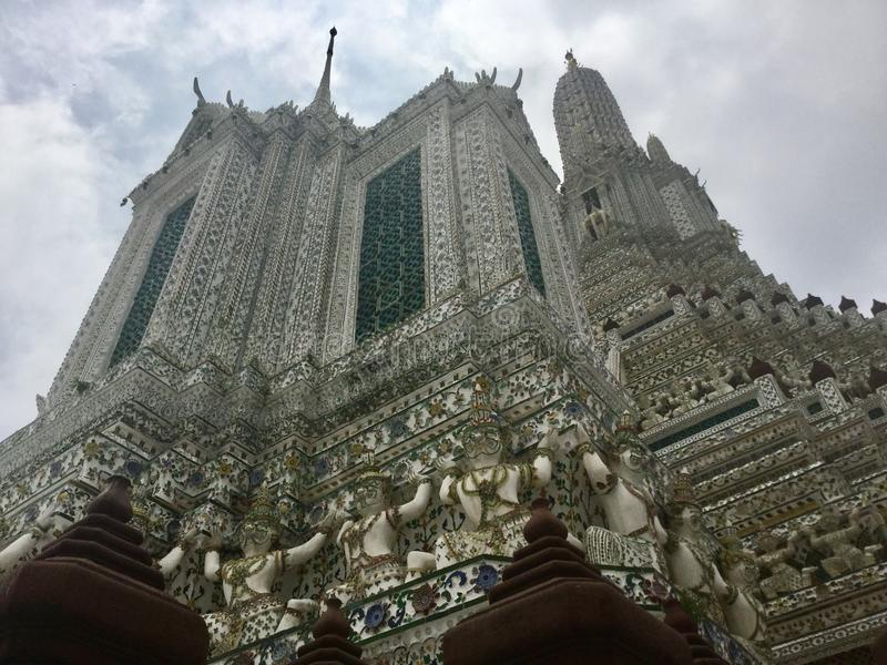 Architecture. Buddhist temple of Dawn. Thailand. Wat Arun & x22;Temple of Dawn& x22; is a Buddhist temple & x28;wat& x29; in Bangkok Yai district of Bangkok royalty free stock photo