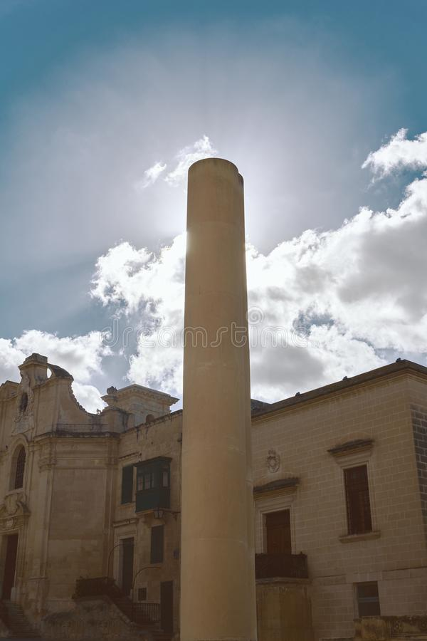 High chimney covering the sun royalty free stock image