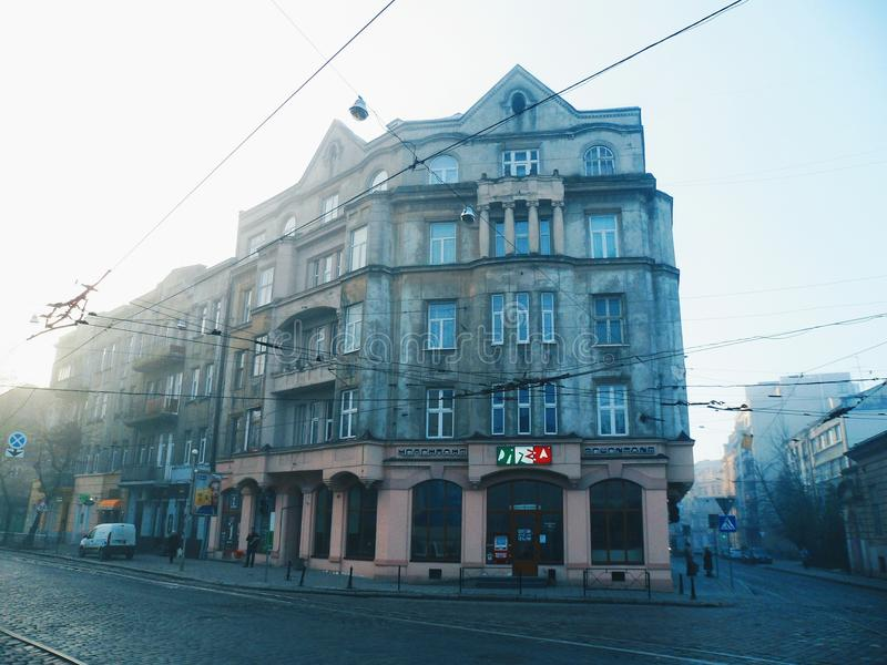 Architecture and buildings of the city of Lviv stock photo