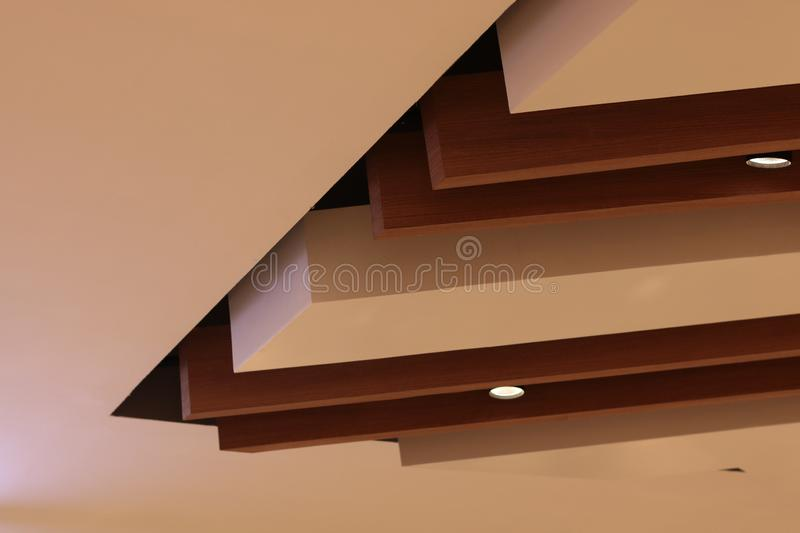 Architecture ceiling modern loft style , wooden material . Architecture ceiling modern loft style , wooden material stock photography