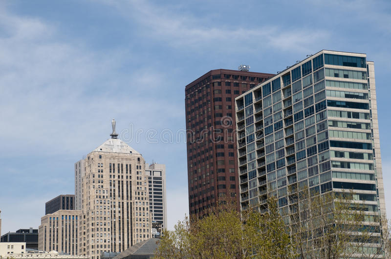 Architecture in Chicago stock photography