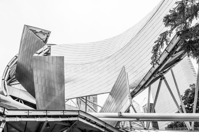 Architecture of Chicago, Jay Pritzker pavilion in royalty free stock photos
