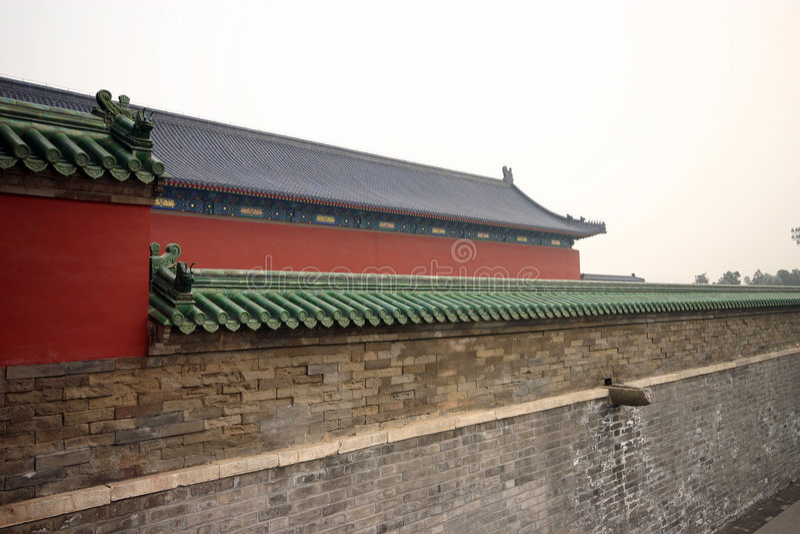 Architecture chinoise de construction   image stock