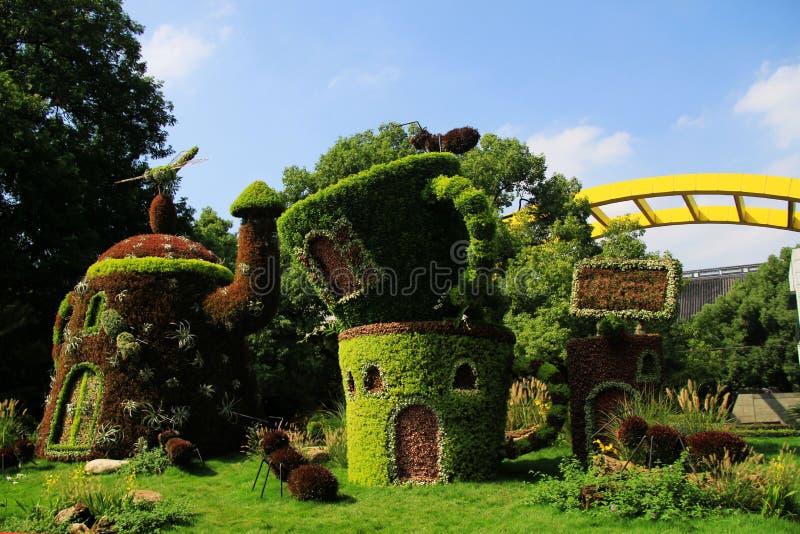 Architecture chinoise Sculpture verte photographie stock libre de droits