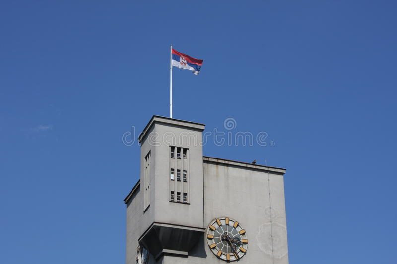 Architecture of the city in Belgrade, Serbia royalty free stock images