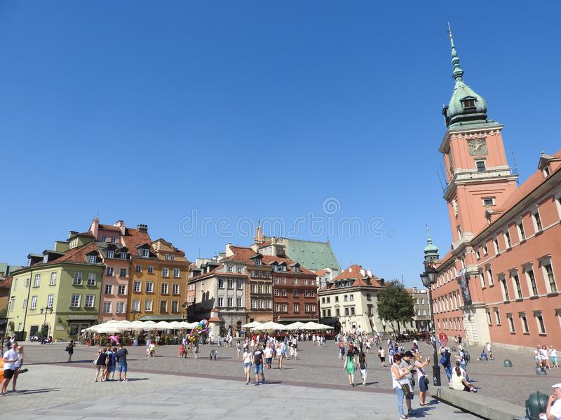 The architecture of the city of Warsaw in Poland stock image