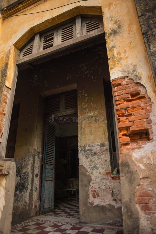 Architecture Colonial Phnom Penh, Cambodia. Mar 2015 stock images