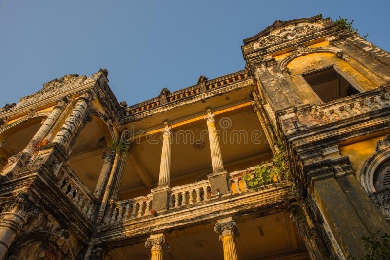 Architecture Colonial Phnom Penh, Cambodia. Mar 2015 stock photo