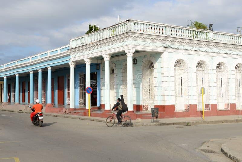 Architecture coloniale à la vieille ville de Cienfuegos, Cuba photo stock