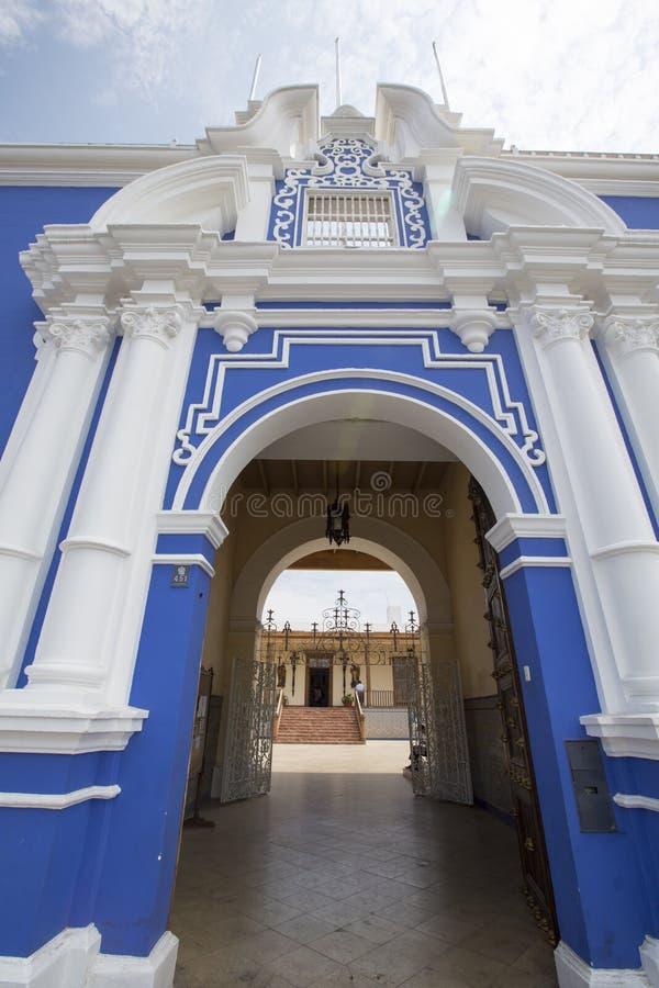 Architecture coloniale à Trujillo, Pérou photos libres de droits