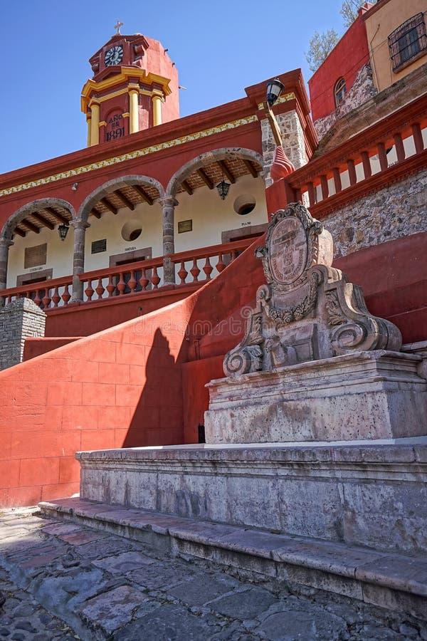 Architecture coloniale au Mexique image stock