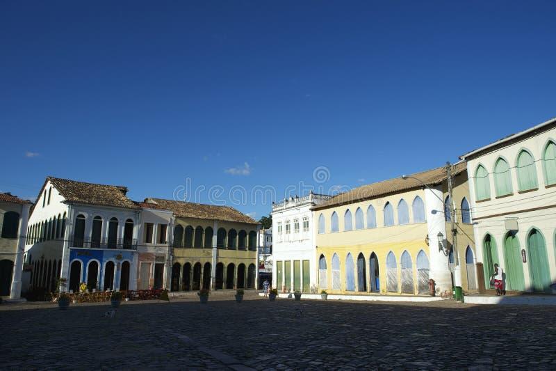 Architecture coloniale colorée Lencois Bahia Brazil photos stock