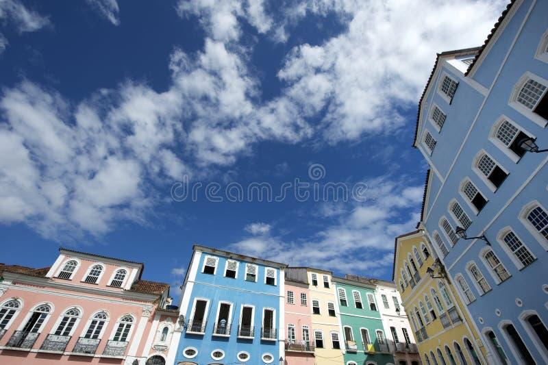 Architecture coloniale colorée Pelourinho Salvador Brazil image libre de droits