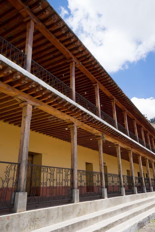 Architecture coloniale dans le xecul Guatemala de San Andres photo stock