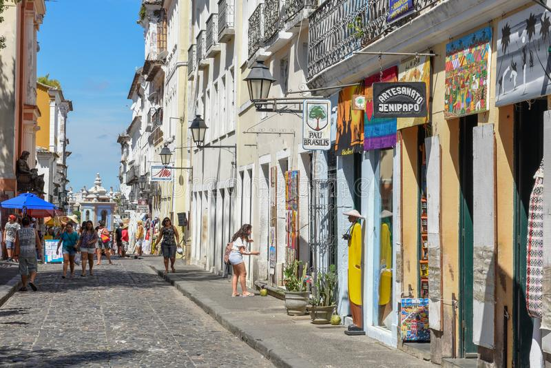 Architecture coloniale de Pelourinho sur Salvador Bahia au Br?sil images stock