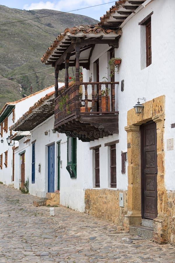 Architecture coloniale en Villa de Leyva Colombie image libre de droits