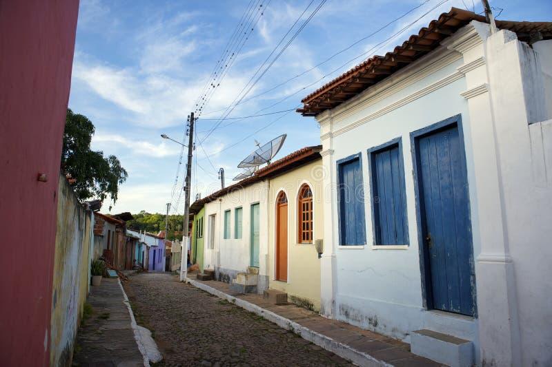 Architecture coloniale portugaise brésilienne traditionnelle image stock