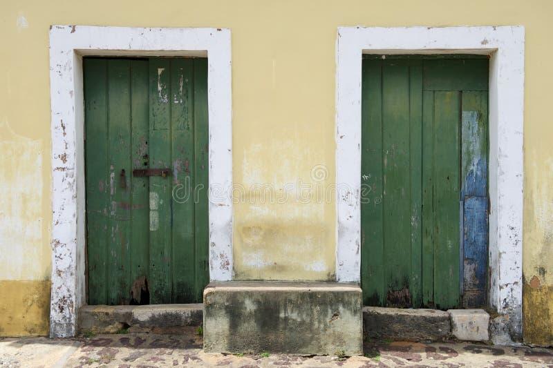 Architecture coloniale portugaise brésilienne traditionnelle photo stock