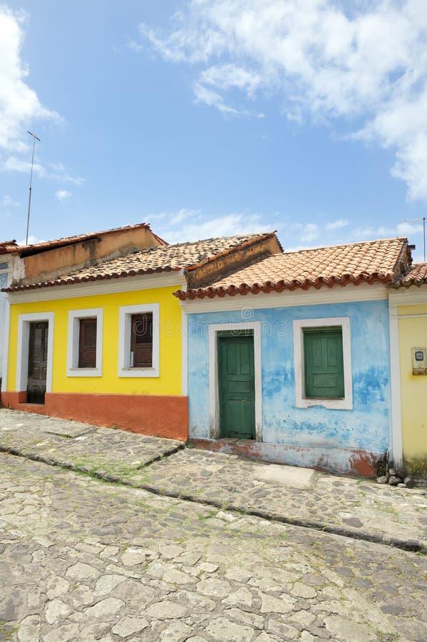 Architecture coloniale portugaise brésilienne traditionnelle Nordeste Brésil photographie stock