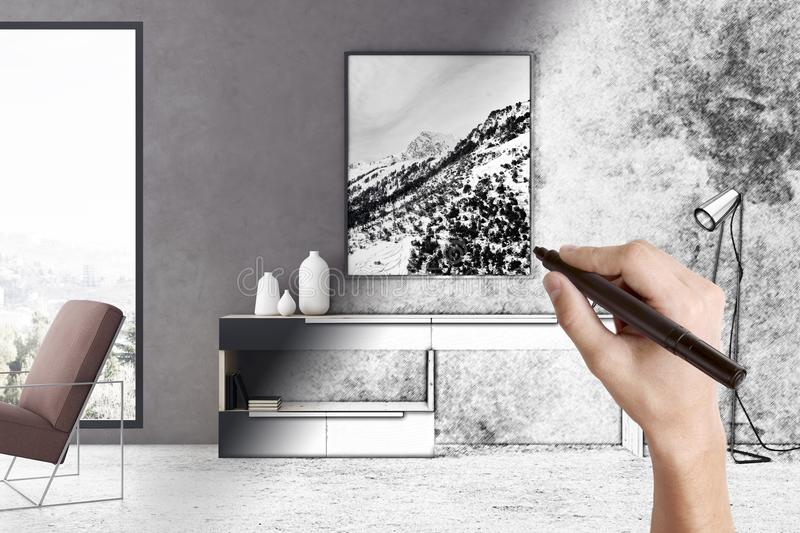 Architecture concept stock images