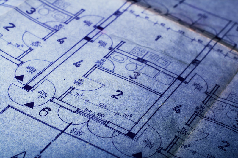 Architecture concept plan stock photography