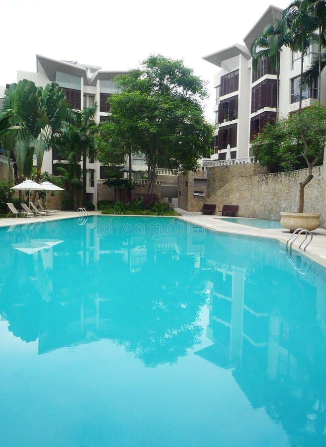 architecture condominium new pool στοκ φωτογραφία