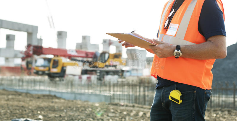 Architecture Construction Safety First Career Concept royalty free stock image