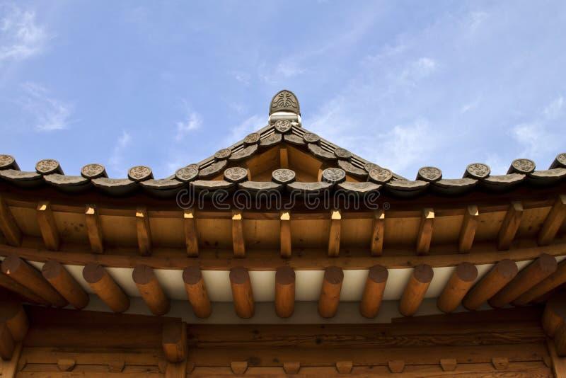 Architecture coréenne traditionnelle de style au village de Hanok, sud K photo libre de droits