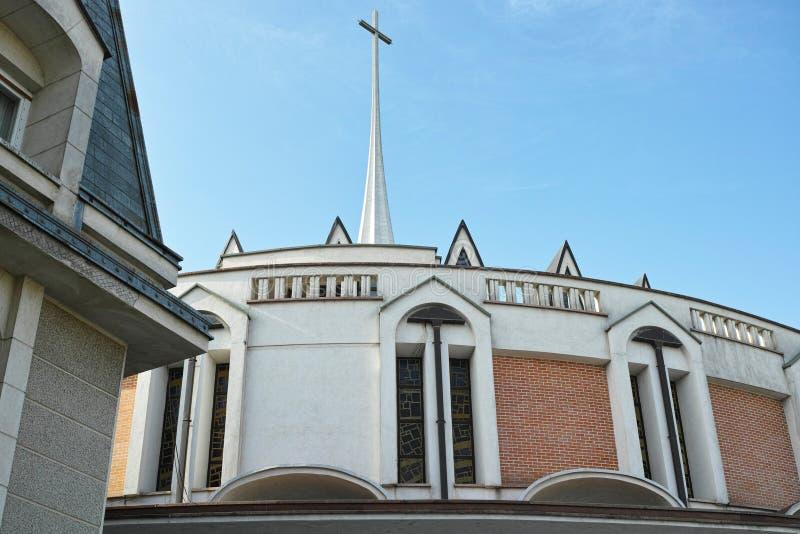 Architecture d'église catholique photographie stock