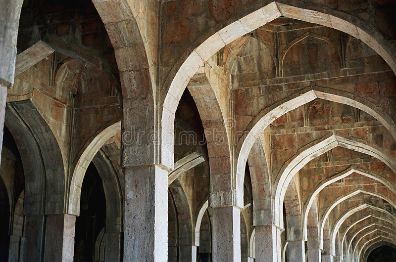 Architecture d'Afgan en Inde images stock