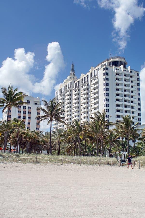 Architecture d'art déco sur la plage du sud à Miami photographie stock libre de droits
