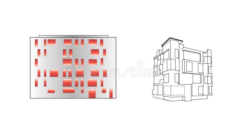 Architecture d'icône photographie stock libre de droits