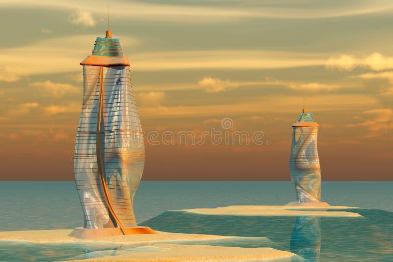 Architecture d'océan illustration stock