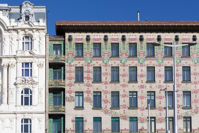Architecture d'Otto Wagner, nouveau d'art images libres de droits