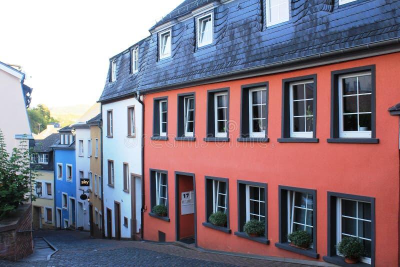 Architecture d'une petite ville allemande, Saarburg chez Saar River photographie stock libre de droits