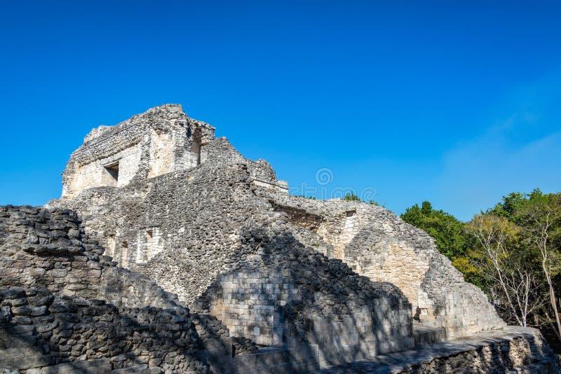 Architecture dans Becan, Mexique image libre de droits